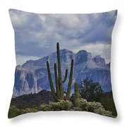 White Cotton Candy Clouds  Throw Pillow