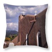 White Crosses At Taos Throw Pillow