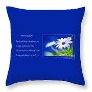 White Daisy Throw Pillow