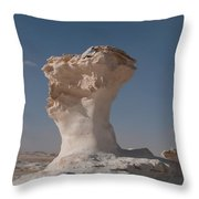 White Desert Throw Pillow