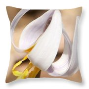 White Dog Tooth Violet Throw Pillow