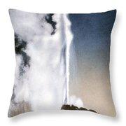 White Dome Geyser Yellowstone Np Throw Pillow