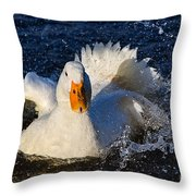 White Duck 1 Throw Pillow