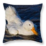 White Duck 2 Throw Pillow