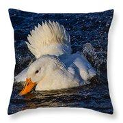 White Duck 3 Throw Pillow