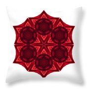 Dying Amaryllis IIi Flower Mandala White Throw Pillow