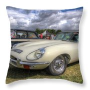White E-type Throw Pillow