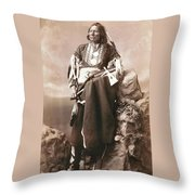 White Eagle Ponca Chief Throw Pillow