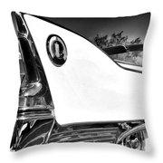 White Fin Bw Palm Springs Throw Pillow