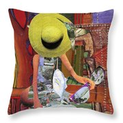 The Green Hat Throw Pillow