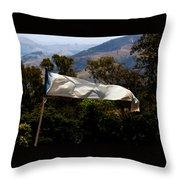 White Flag1 Throw Pillow by Fabio Giannini