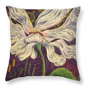 White Flower Series 6 Throw Pillow