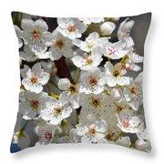 White Flowering Tree Flowers Throw Pillow