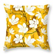 White Flowers Of Early Summer Throw Pillow