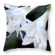 White Flute Blooms Throw Pillow