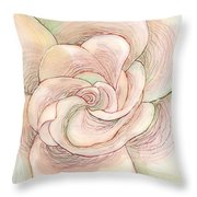 White Gardenia 1 Throw Pillow by Anna Skaradzinska
