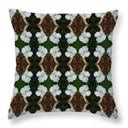 White Geranium Pattern Throw Pillow