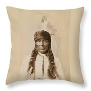 White Ghost Throw Pillow