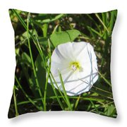 White Glow Throw Pillow