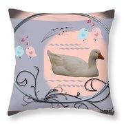 White Goose Series 1 Throw Pillow