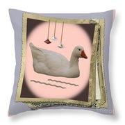 White Goose Series 2 Throw Pillow