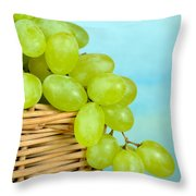 White Grapes Throw Pillow