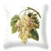 White Grapes Throw Pillow