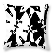White Gravity Throw Pillow