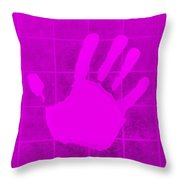 White Hand Purple Throw Pillow