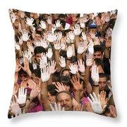 White Hands  - Manos Blancas Throw Pillow
