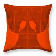 White Hands Orange Throw Pillow