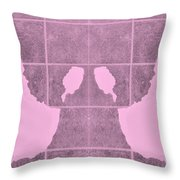 White Hands Pink Throw Pillow