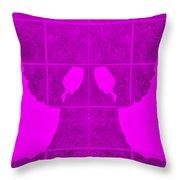 White Hands Purple Throw Pillow