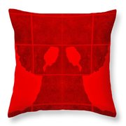White Hands Red Throw Pillow