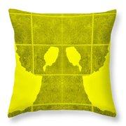 White Hands Yellow Throw Pillow