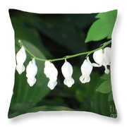White Hears Throw Pillow
