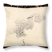 White Herons Throw Pillow