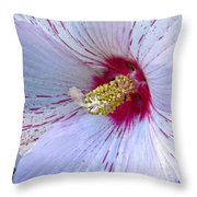 White Hibiscus Beauty Throw Pillow