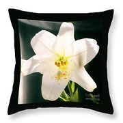 Easter Lily Up Close, Bermuda Throw Pillow