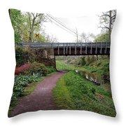 White Horse Canal Throw Pillow