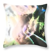White Hot Fire Dancer Throw Pillow