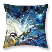 White Hot Off Center Throw Pillow