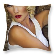 White Hot Color Palm Springs Throw Pillow