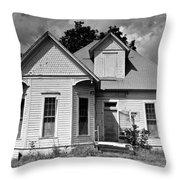 White House B W Throw Pillow