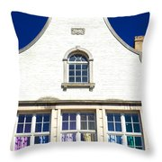 White House In Bruges Throw Pillow