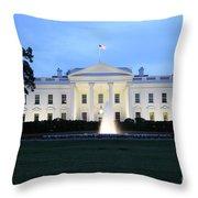 White House In Eveninglight Washington Dc Throw Pillow
