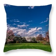 White House Lawn In Spring Throw Pillow