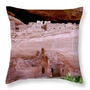 White House Ruins - Canyon De Chelly Throw Pillow