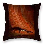 White House Ruins Illuminated Throw Pillow