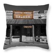 White House Saloon Throw Pillow